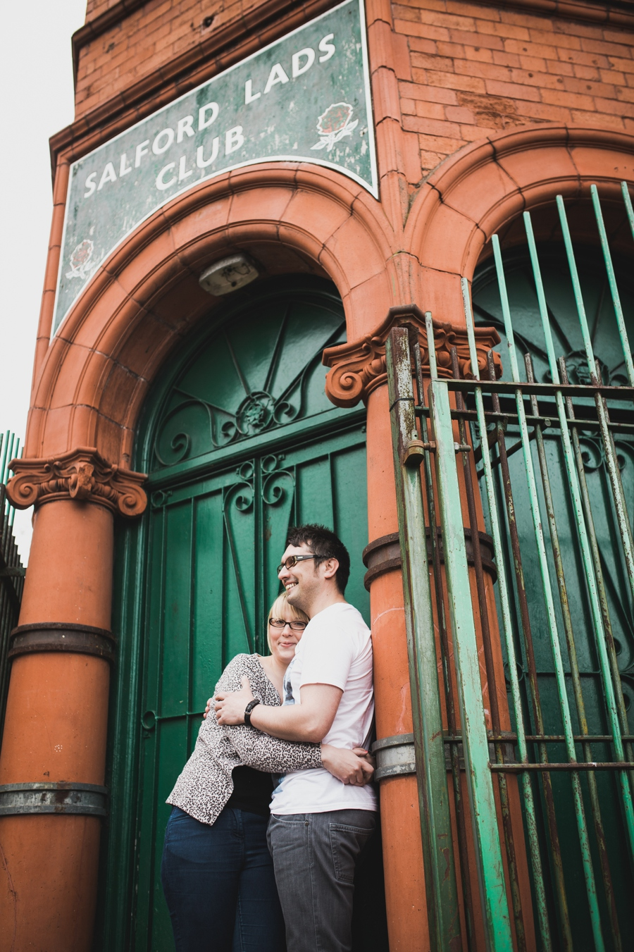 Cheshire Wedding Photographer Manchester Engagement Shoot Salford Lads Club Lauren and Warren_0012
